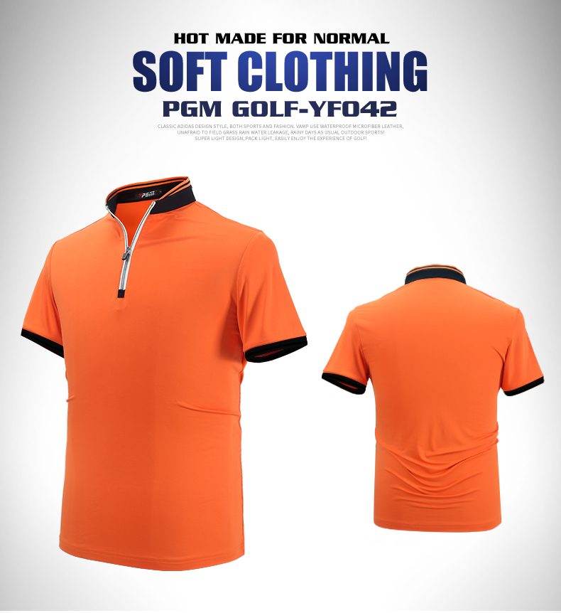 High quality!PGM Golf Clothing Mens Short Sleeve Polo T-shirt Uniform Dry Fit Polomens Tennis Polo Shirt,Free shipping