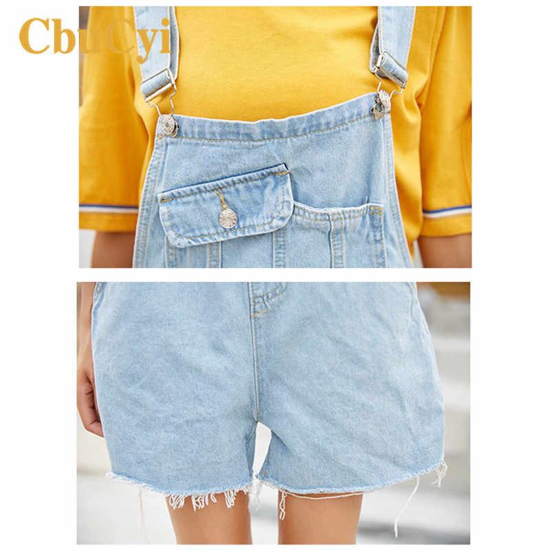 CbuCyi женские джинсовые комбинезоны женский комбинезон Светло-Синий Свободный Повседневный хлопковый джинсовый комбинезон Комбинезоны для женщин комбинезоны