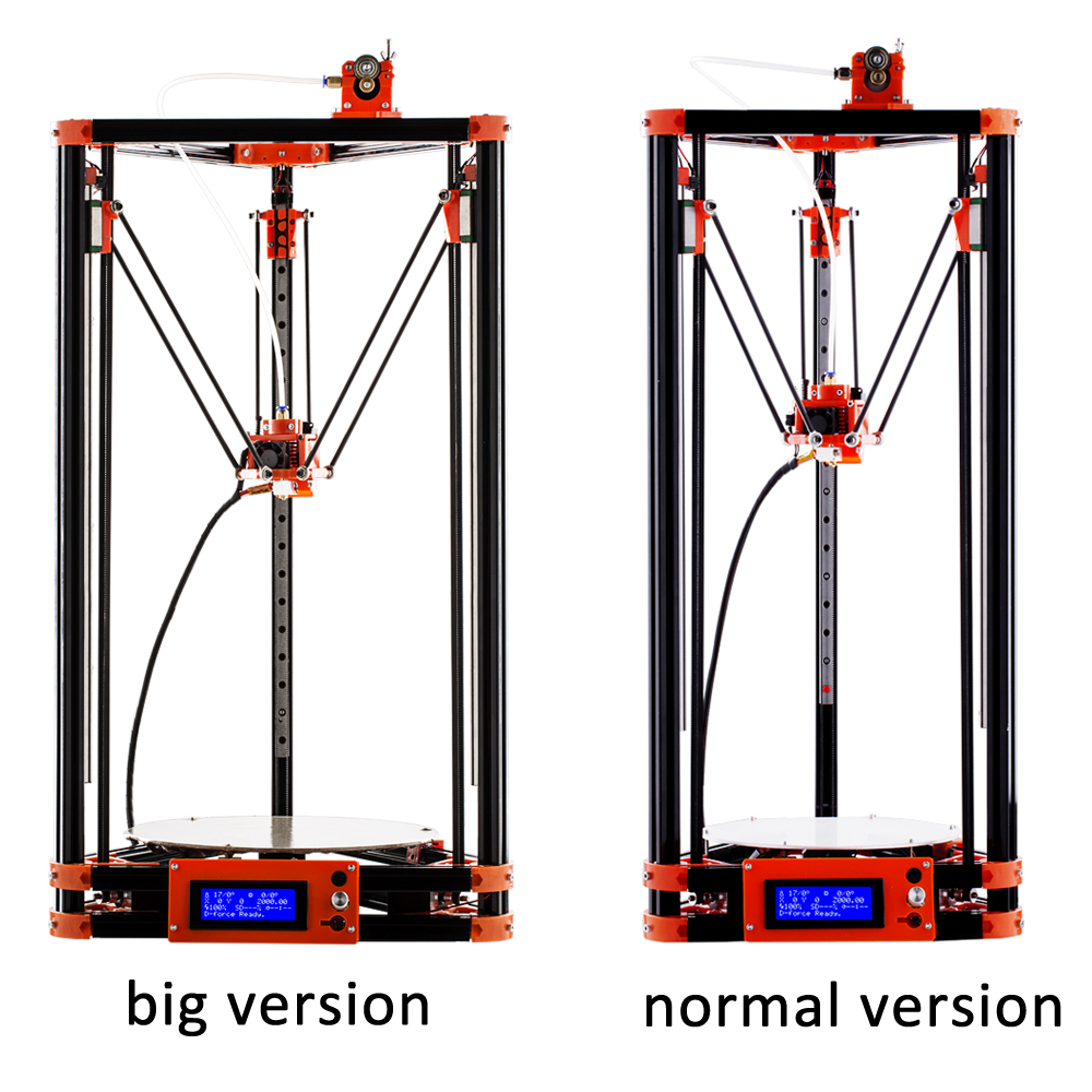 FLSUN Delta 3D Printer, Large Print Size 240*285mm 3d-Printer Pulley  Version Linear Guide Kossel La