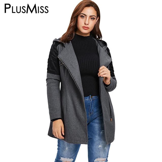 L 5xl Abrigo Plus De Size Invierno Con Lana Otoño Plusmiss 2018 wqOtxSHx