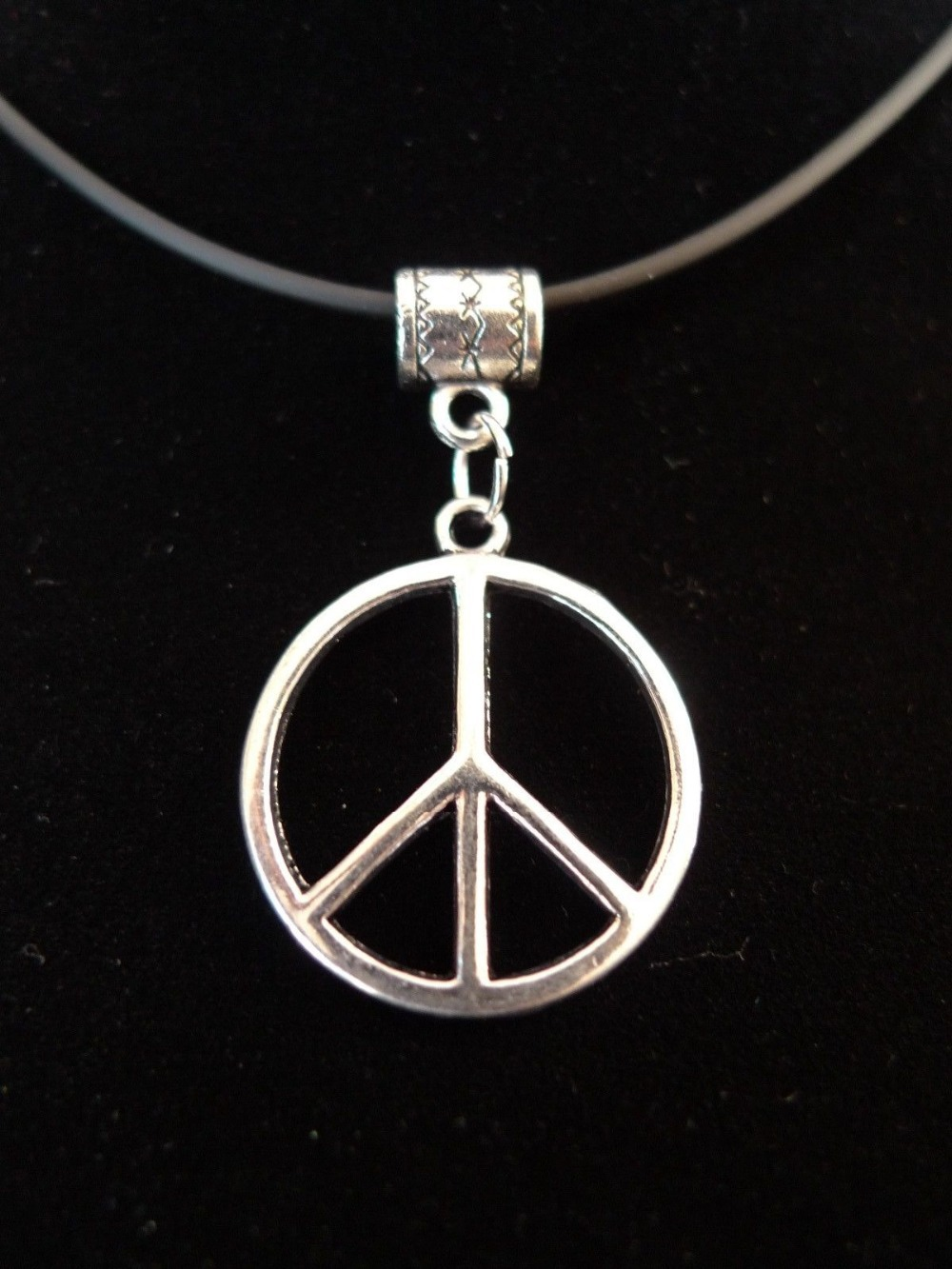 Aliexpress buy 100pcs tibetan silver alloy round peace aliexpress buy 100pcs tibetan silver alloy round peace symbol sign fashion pendant 40 x 24 mm dz1235 from reliable pendant cherry suppliers on first buycottarizona Gallery