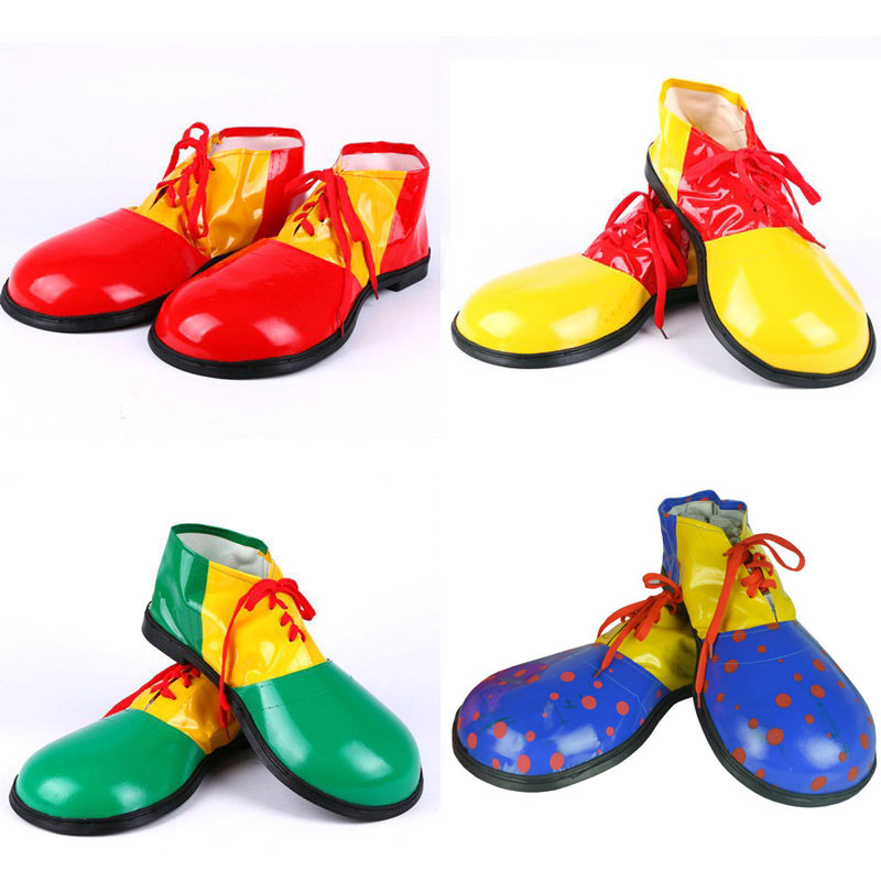 Halloween Costumes Adult Funny Circus Clown Shoes for Men Women Unisex Gift Red Green emblem