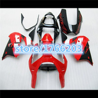 For KAWASAKI NINJA ZX 9R Red black ZX9R 00 01 ZX 9R 9 R Glossy red black ZX9 R 00 01 2000 2001 zx9r Fairing