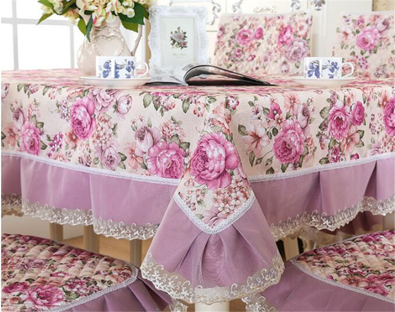 Dining Table Covers European Quilted Lace Edge Tablecloths Fashion High  Quality Christmas Dustproof Table Cloth For Home Decor In Tablecloths From  Home ...