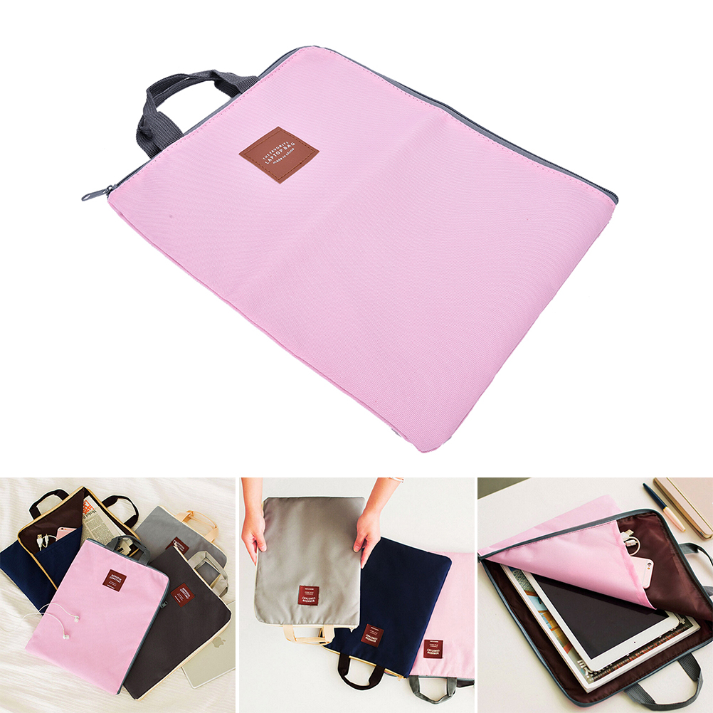 1PCS 4 Colors  A4 Canvas File Folder Bag Document Organizer Bag Cartella Documenti Archivador Briefcases