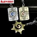 Kayme новый брелок кольцо брелок случае Игра периферической печи камень легенда модель личности кулон чистого металла ключа автомобиля кнопку