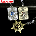 Kayme new key chain ring keychain case Game peripheral furnace stone legend model personality pendant pure metal car key button