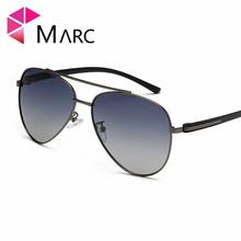 MARC 2019 Men sun glasses Pilot Sunglass Classic Gradient Lens Eyewear UV400 Fashion Gafas sol de Metal 1