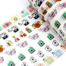 1.5cmx10M NEW Camera Washi Tape Set Planner Scrapbooking Cute Cinta Adhesiva Decorativa Masking Tapes Japanese Office Stationery