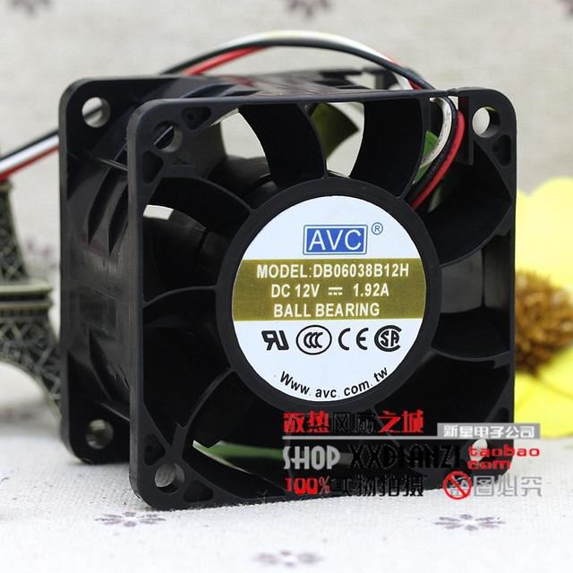 Original DB06038B12H 6038 1.92A ventilador de refrigeração 6 cm 12 V ventilador violento