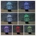 Creative 3D illusion Lamp LED Night Lights Cartoon Cute Mushroom House Design Novelty Acrylic Discoloration Atmosphere Lamp