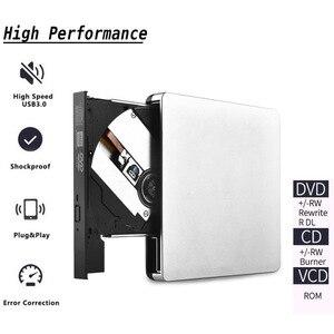 Image 4 - USB3.0 モバイル光学ドライブ dvd レコーダー外部ノートブック、デスクトップ光学ドライブシルバーホワイト外部ポータブル dvd バーナー