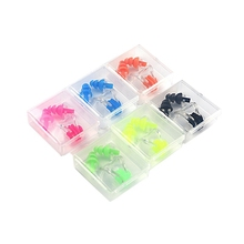 1 Set Waterproof Soft Silicone Swim Set Nose Clip Soft Ear Plug Diving Reduction Noise With Box Diving Water Swimming Accessorie 2 set waterproof soft silicone swimming set nose clip ear plug earplug travel sleep prevent noise tool selection of color