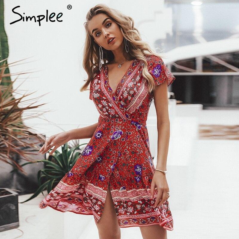 Simplee Floral Summer Dress