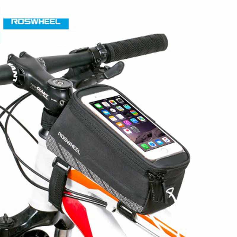 """Bicycle Cycling Bike Frame Top Front Tube Bag 5.2/"""" 5.7/"""" Mobile Phone Bag Pouch"""