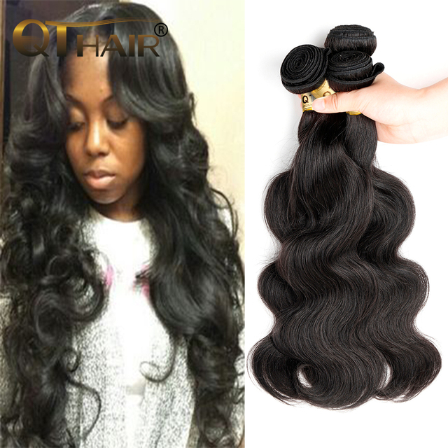 Qt Hair Product Indian Virgin Hair Body Wave 3 Bundles Remy Indian