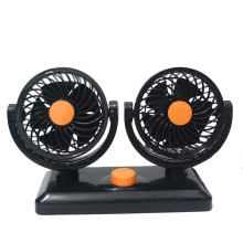 12V /24V Car Truck Fan 2 Gear Adjustable Dual Head Air 360 Degree All-round Low Noise Auto Cooling Electric Mini