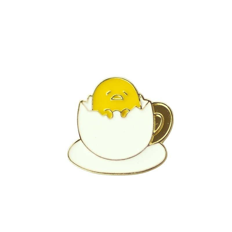 Kartun Lucu Kawaii Gudetama Lazy Egg Lencana Bros Pin Tombol Pins Jeans Tas Dekorasi Bros Hadiah untuk Pria Wanita Aksesori