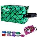 Square Geométrica Patrón de Diamante Láser de Colores Bolsas de Cosméticos A Prueba de agua de Alta Capacidad Maquillaje Organizador HBG37