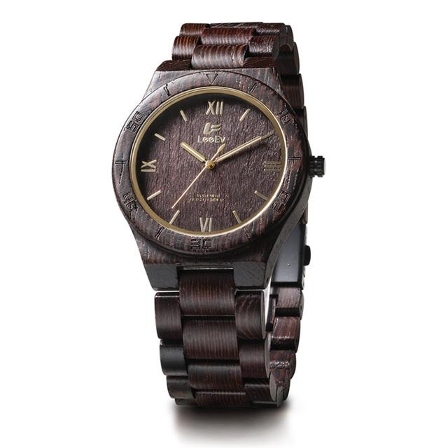 Wooden Watch Men Round Retro Clocks Wrist Male Watch Luxury Brand Wood Quartz Multifunction Watches Free Shipping Sale