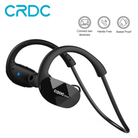 CRDC Wireless Sport Bluetooth 4 1 Earphone Secure Fit Wrap Around Built In Mic For Apple