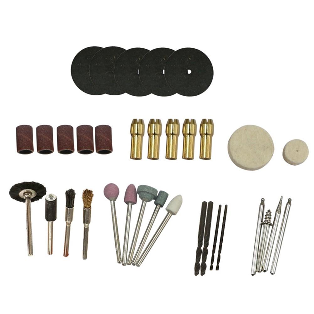 34Pcs/Set Shaft Accessories Grinding  Grinder Tool Kit Wheel Polishing Drill Chuck Brush Electric Resin Slice