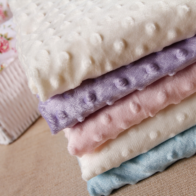 27 farver Ultrasoft Minky Fabric 1 Meter Bubble Polyester Micro Mink Bedding Tæppe Pude Madrass Tpy Sy Materiale