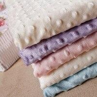 27 couleurs Ultrasoft Minky tissu 1 mètre bulle Polyester Micro vison literie couverture coussin matelas Tpy matériel de couture