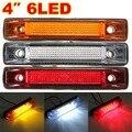 6 Apuramento LED Lado Marcador Luz Indicadora Tira Da Lâmpada Do Reboque Do Caminhão Camião 12 V 24 V Branco Amarelo Âmbar Vermelho