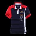 2016 НОВЫХ людей поло ввс вышивка рубашки поло мужские спортивные случайные 100% хлопок Мужской с коротким рукавом топы