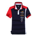 2016 NUEVOS mens camisas de polo bordado camisa de polo de los hombres de la fuerza aérea sport casual 100% algodón Masculino manga corta tops