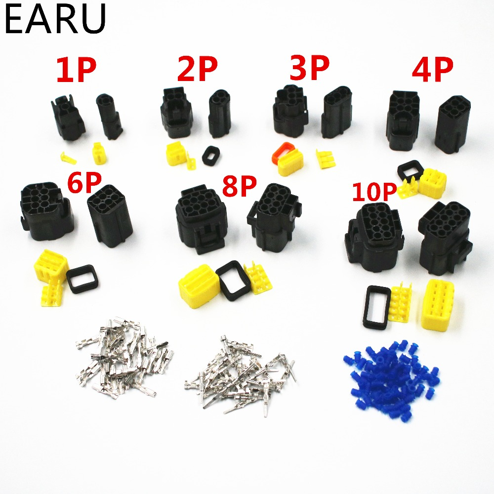 Denso 2.0 1 Set 2/3/4/6/8/10 Pin Way 2P 3P 4P 6P 8P 10P Waterproof Sealed Sealing Car Truck Eletrical Wire Cable Connector Plug