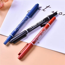 Small double-headed water-based notebook pen marker pen extremely fine non-fading CD-ROM pen(China)