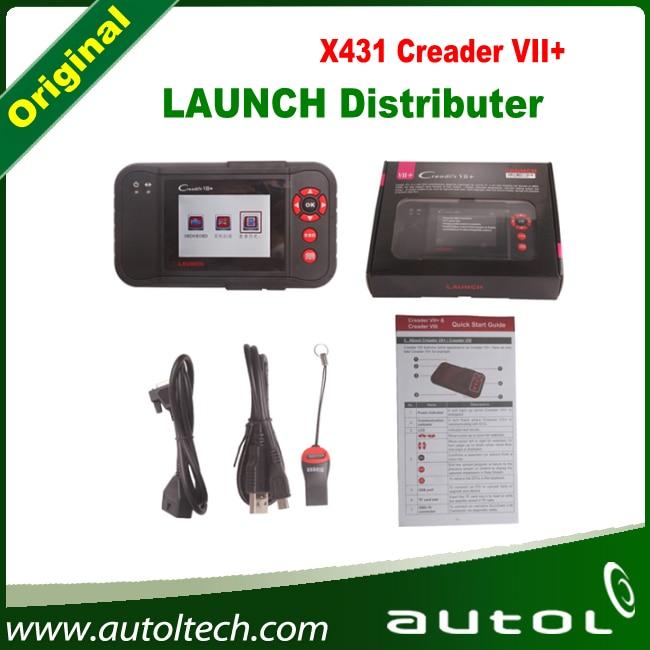 Launch X431 Creader VII+ 7 Plus Scanner Auto Diagnostic Tool Code Reader OBDII Scanner
