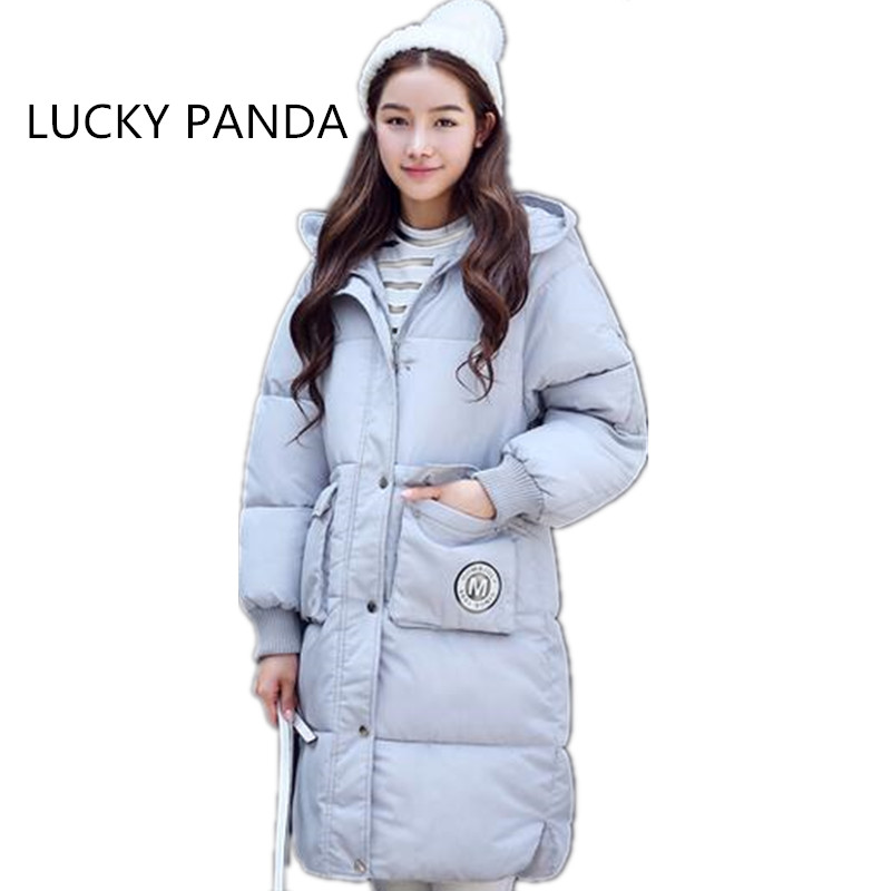 LUCKY PANDA 2016 Women Winner Thickening Comfortable Beautiful Long Solid Zipper Appliques Pattern LKA020