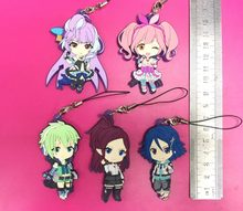 5pcs/lot MACROSS DELTA The Super Dimension Fortress Ma Original Japanese anime figure rubber mobile phone charms/key chain/strap(China)
