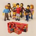 O Simpson 25th Anniversary PVC Action Figure Modelo Brinquedos Bonecas para Crianças Brinquedos Movies & TV & Hobbies 8 pçs/set