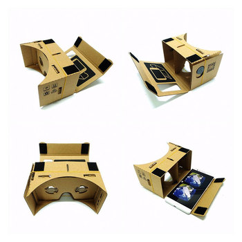 Hot Sale VR Cardboard Glasses 3D Glasses for Xiaomi Android DIY VR Glasses Box for iPhone 5 6 7 Smart Phones 3D VR Glasses 3