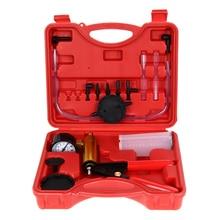 Hand Held Vacuum Pump Handle Brass Brake Bleeder Kit Cars Motorcycles Vacuum Tester Pump Sturdy Steel Handle Pump Tool стоимость