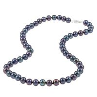36 7.5 8mm Black Freshwater Pearl Necklace