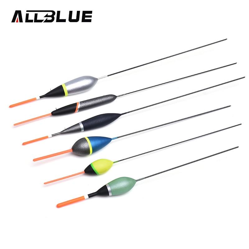 ALLBLUE 6 teile/satz 3A Balsaholz Angeln Float Set Europäischen Tauch Farbe Carbon Vorbauten Für Karpfen Ice Fishing Tackle Zubehör