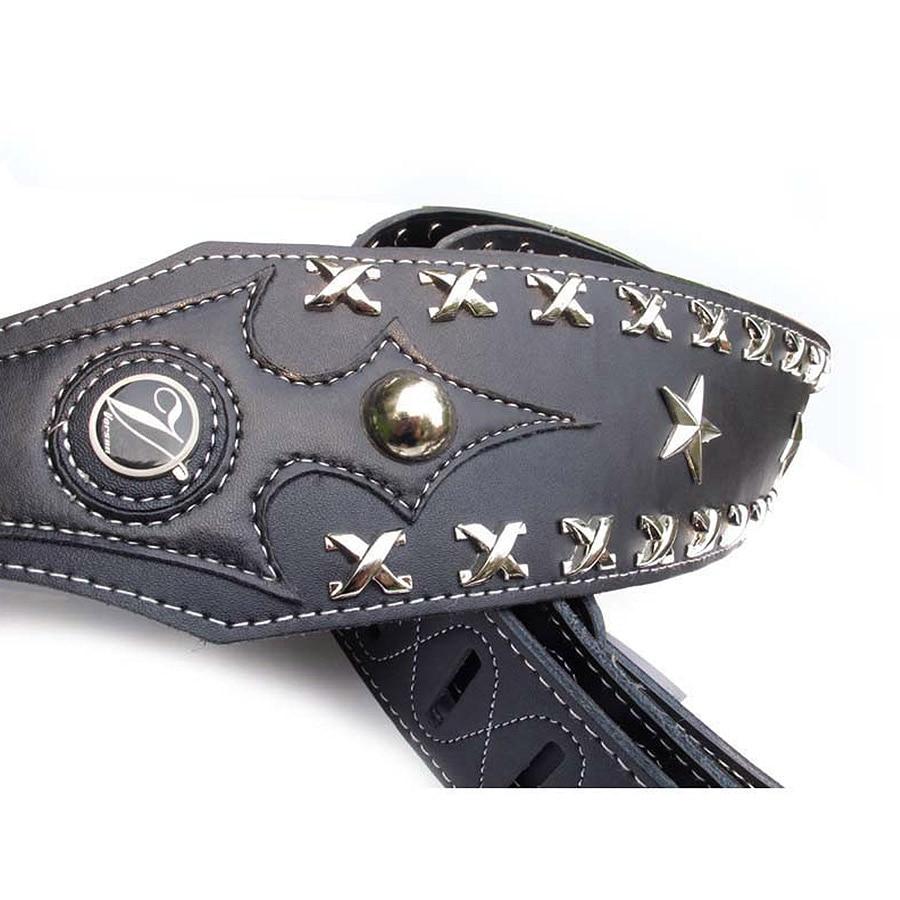 Vorson Leather Guitar Strap  Electric Bass Strap  Death Metal Rock Punk  Guitar Strap Genuine Leather