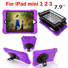 TPU Pill Funda Case For iPad mini 1 2 three Armor Shockproof Heavy Responsibility Silicone Exhausting Case Cowl Display screen Protector Movie+Stylus Pen