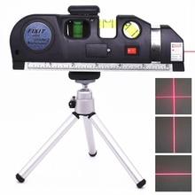 Лазерный уровень Вертикальная измерительная лента горизонтальные лазеры отрегулированные многофункциональные стандартные линейки поперечные линии инструмент со штативом