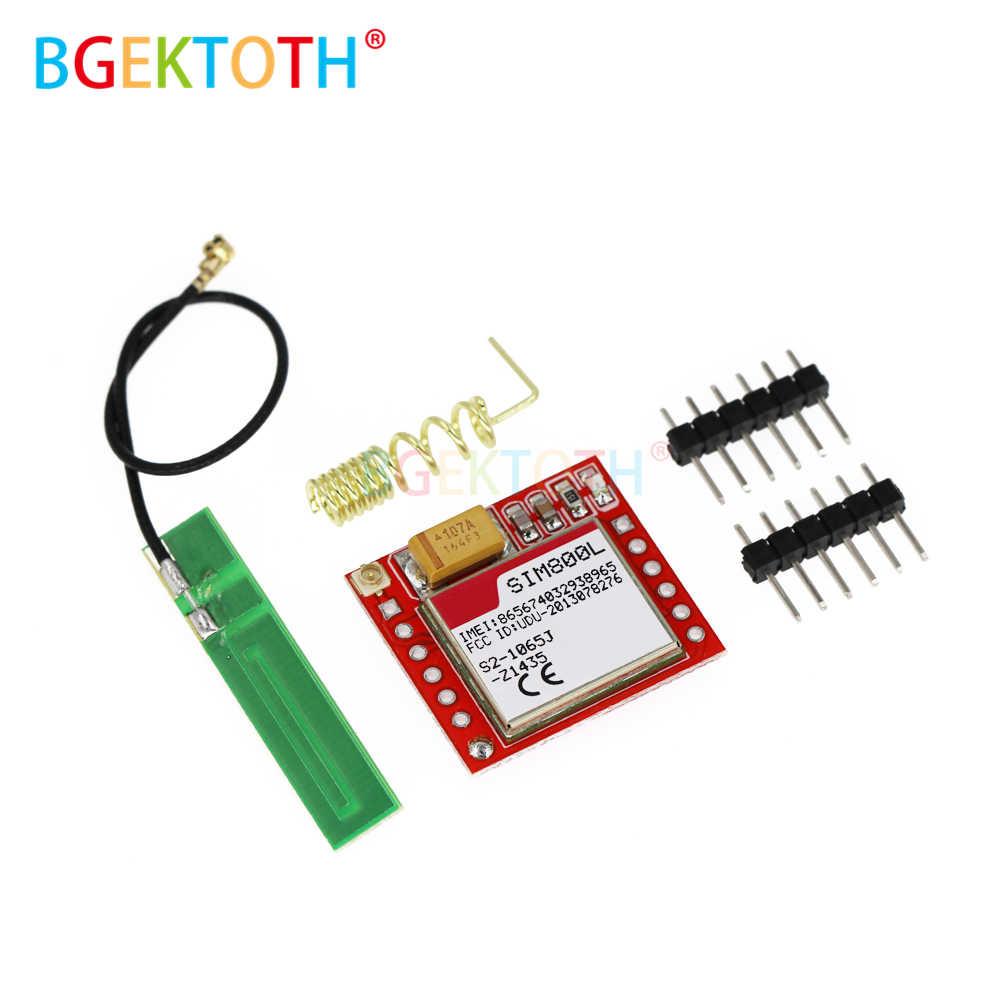 Mini plus petit SIM800L GPRS Module GSM carte micro sim carte sans fil carte Quad-bande TTL Port série avec antenne