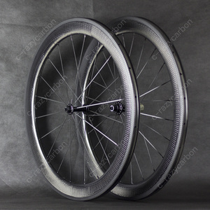 Image 3 - Free Shipping Valued Wheel Dimple Carbon Wheels 45/50/58/80mm Carbon Wheel 700C Best Budget For Sale with Ridea Fixed Gear Hubs
