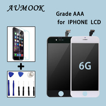 10PCS Grade AAA No Dead Pixel For iPhone 6G LCD Display Digitizer Assembly Pantalla 4.7 inch Cold Press Frame Free shipping DHL