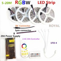 LED Strip Set DC12V RGB RGBW 5050 Ip65 Waterproof Flexible Led Light RF Remote Controller Power