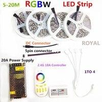 LED Strip Set DC12V RGB RGBW 5050 Ip65 Waterproof Flexible Led Light RF Remote Controller Power
