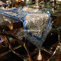 Good quality European ornate velvet stamping table runner,fashion Coffee table flag,Home decoration supplies tablecloth